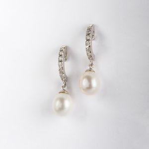 Joyería en Córdoba, pendientes OB Brillante 0.37 perla, ref. 10172.2