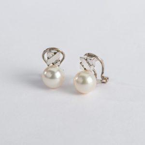 Fabricante en Córdoba, pendientes OB Brillante 0.07 perla 8, ref. 10771.2