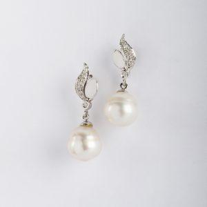 Fabricante en Córdoba, pendientes OB Brillante 0.07 perla 11-12, ref. 11994.2