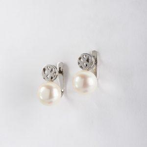 Fabricante de joyería, pendientes OB Perla 8½-9, ref. 12198.2