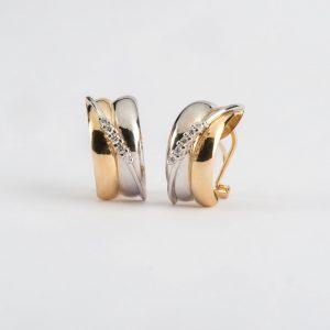 Fabricante Soto Navarro, pendientes oro bicolor brillante 0.19, ref. 12319.2