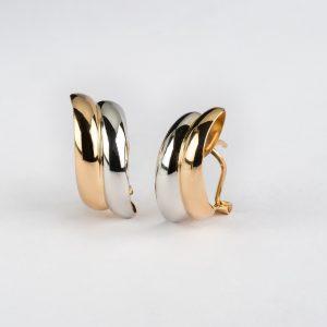 Joyería Cordobesa, pendientes oro bicolor, ref. 12466.2
