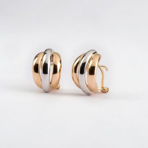 Joyería, pendientes oro bicolor, ref. 12469.2