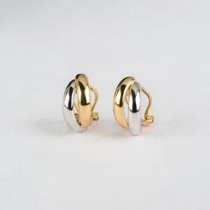 Fabricante Cordobés, pendientes oro bicolor, ref. 12470.2