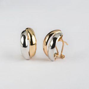 Fabricante de joyería, pendientes oro bicolor, ref. 12472.2