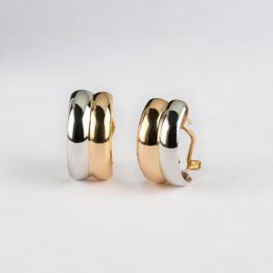 Fabricante de joyería en Córdoba, pendientes oro bicolor, ref. 12473.2