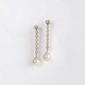 Joyería, pendientes OB Brillante 0.45 perla 8-8½, ref. 85482.2