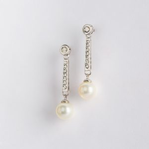Fabricante Cordobés, pendientes OB Brillante 0.21 perla 8-8½, ref. 86522.2